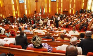 PIC.23. SENATE CHAMBER DURING THE INAUGURATION OF THE 8TH NATIONAL ASSEMBLY IN ABUJA ON TUESDAY